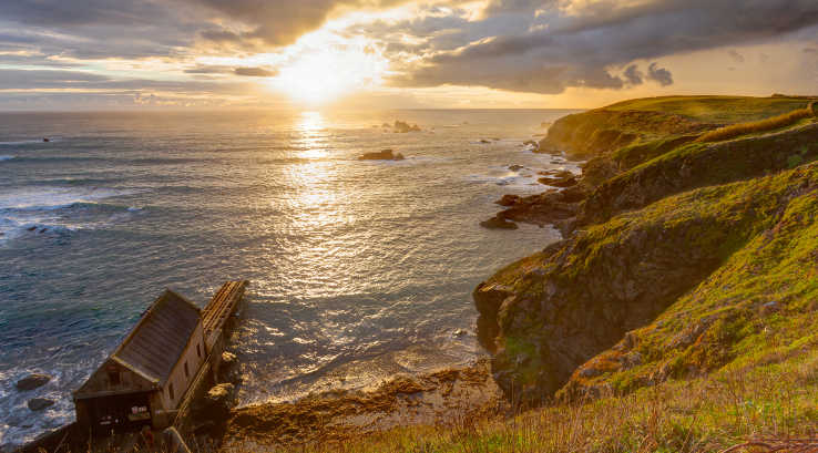 Sunset over Lizard Point in Cornwall