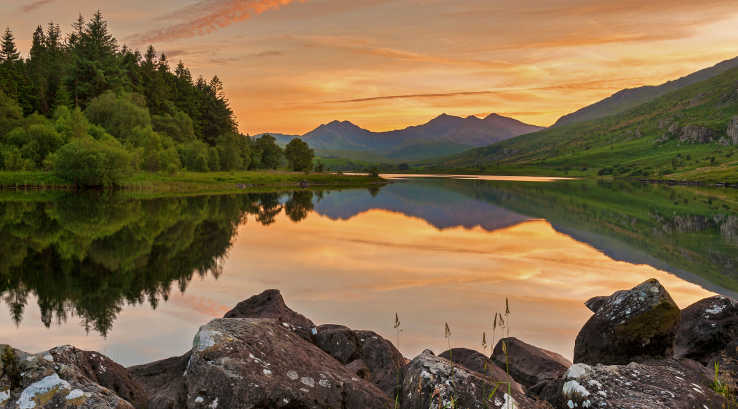 Sunset over Snowdonia National Park
