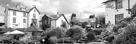 Beer garden at The Angel Inn, Bowness-on-Windermere