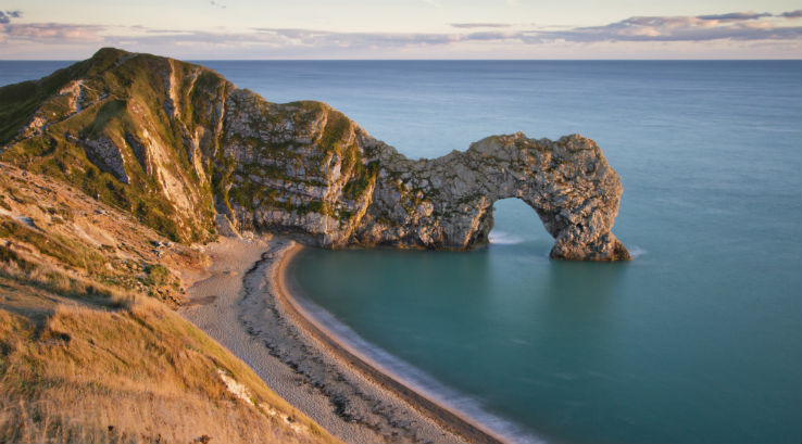 The limestone arch at Durdle Door Beach in Dorset
