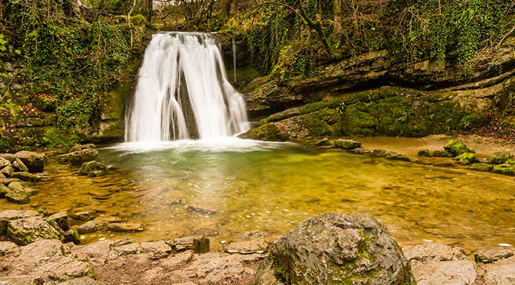Janet's Foss waterfall in Yorkshire