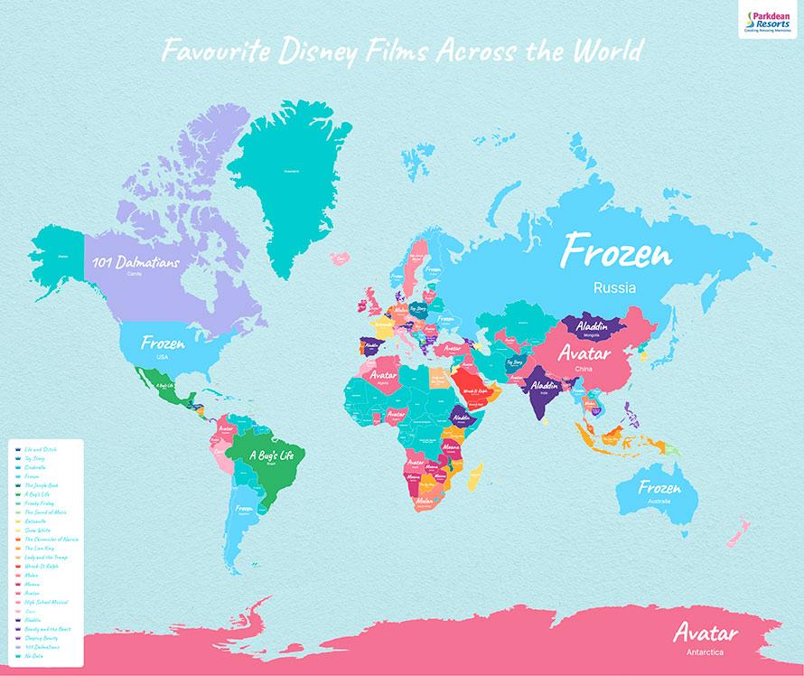 Mapa de Películas Disney