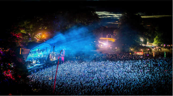Kendal Calling at night