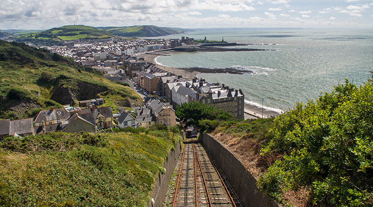 View across the bay from Aberystwyth Cliff Railway