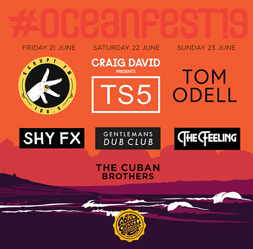 New line-up further acts announced for Oceanfest 2019
