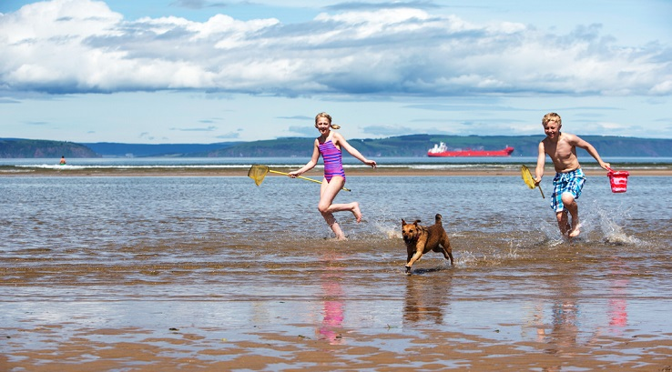 Playing on Nairn Beach
