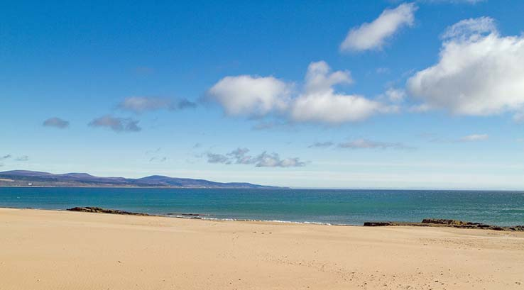 Sands of Embo Beach in Scotland
