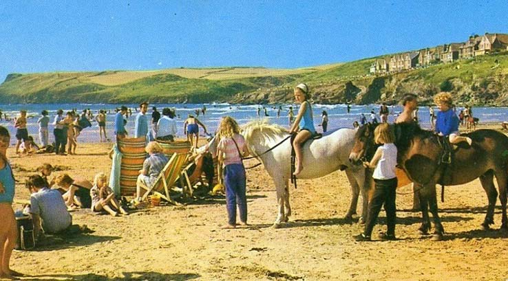Vintage photo of Cornwall in the 1980s