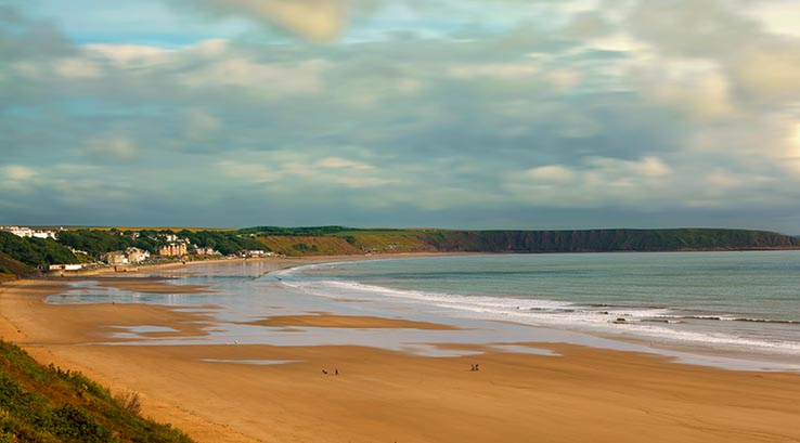Low tide at Filey Beach