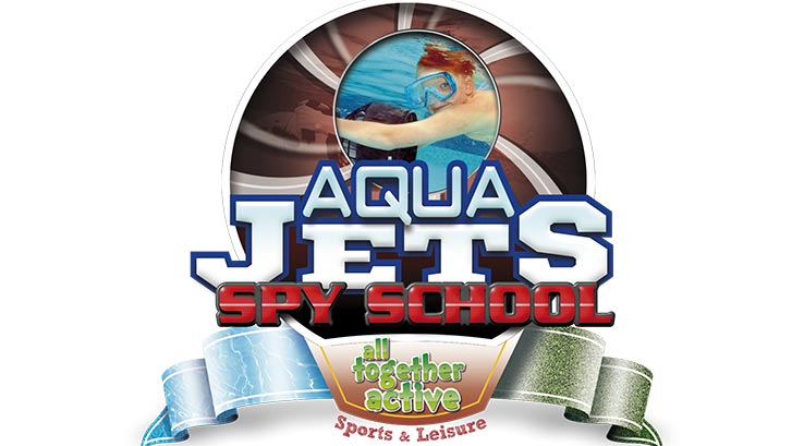 aqua jets spy school logo