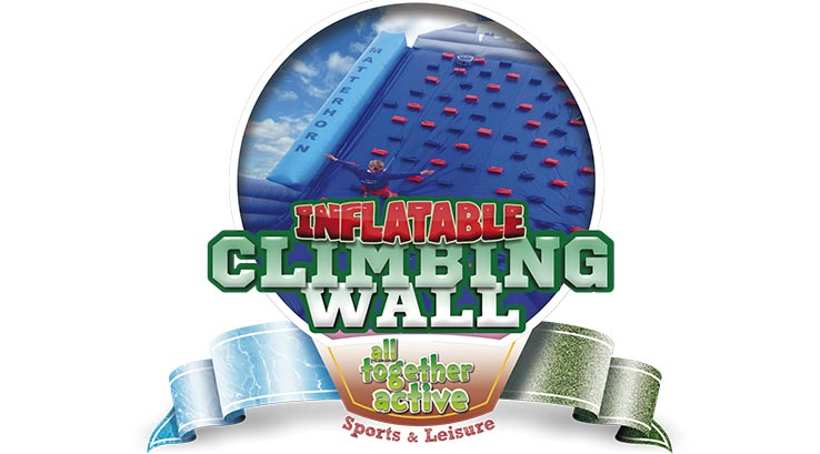 Inflatable climbing wall logo