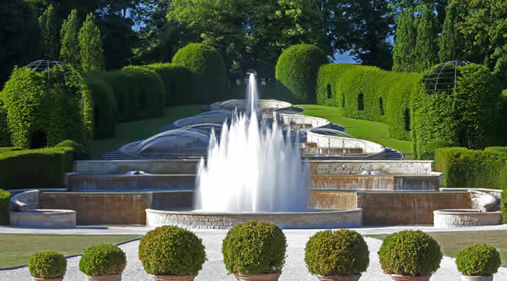 The fountains at Alnwick Garden