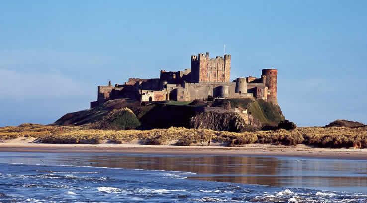 Bamburgh Castle at Sunset
