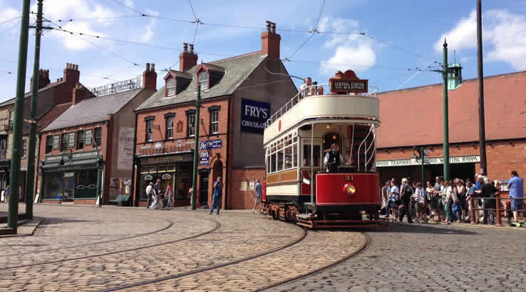 A tram at Beamish
