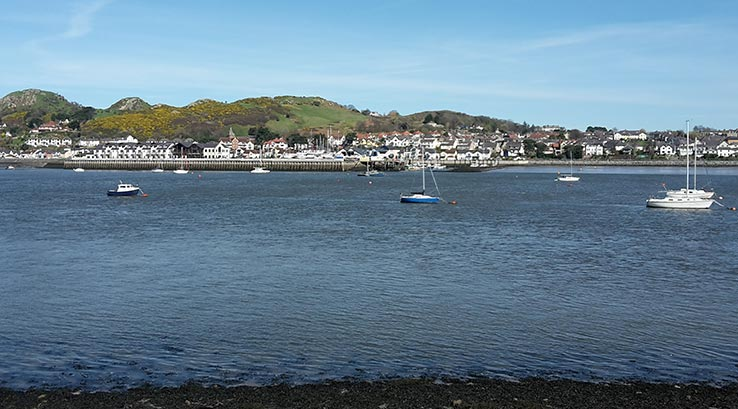 Conwy seaside town in north wales