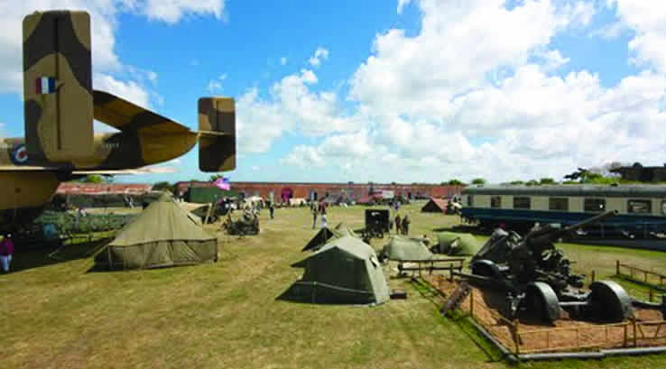 Military exhibits at Fort Paull