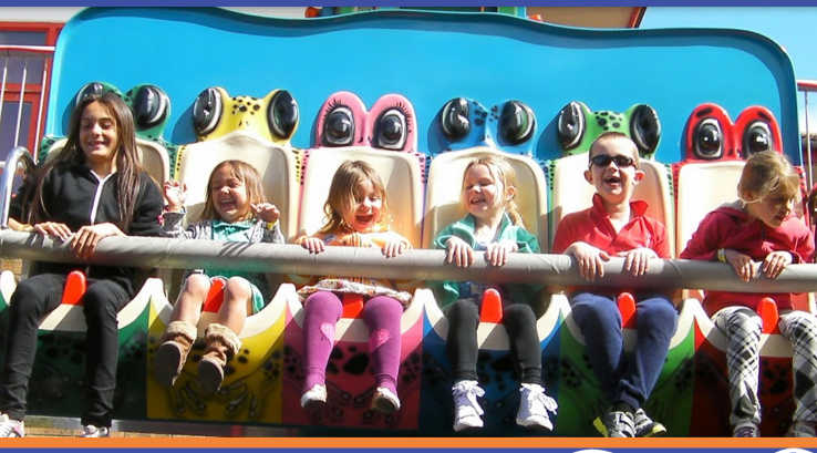 Children on a ride at Funland