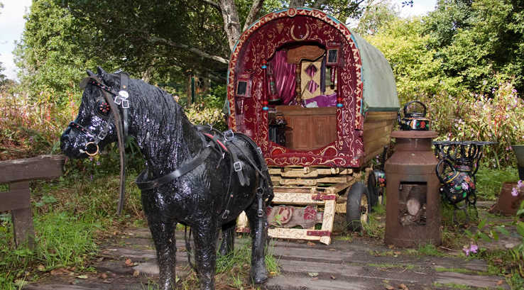 A gypsy caravan exhibit at Gypsywood