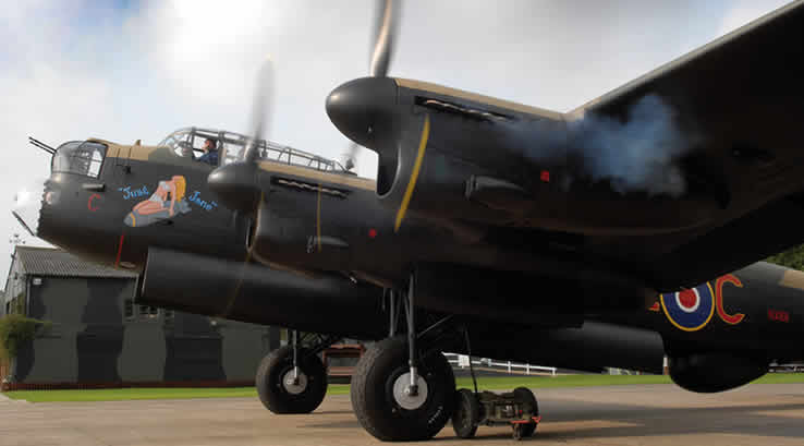 A Lancaster  Bomber at Lincolnshire Aviation Centre