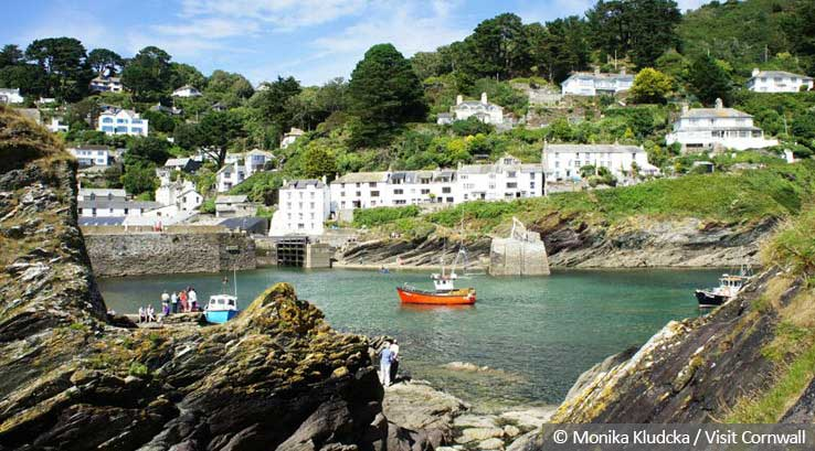 The rocky harbour at Polperro