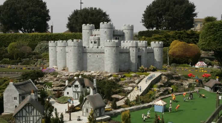 A model castle at Merrivale