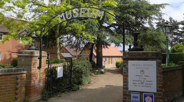 The entrance to Mersea Museum
