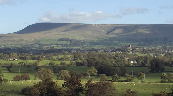 View of Pendle Hill in Lancashire