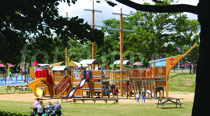 A pirate ship adventure playground at Promenade Park