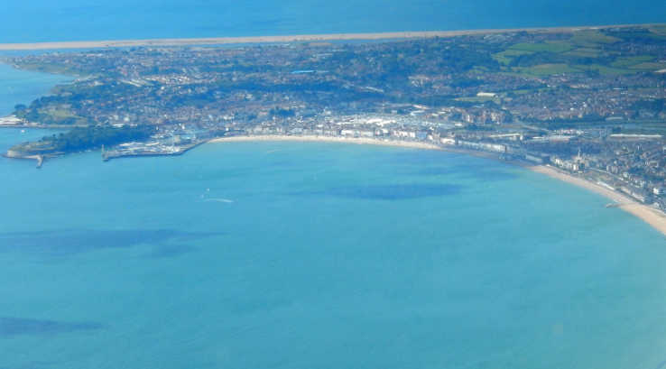 Aerial view of Weymouth Beach