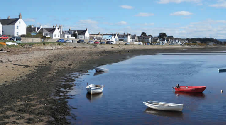 Village of Findhorn on Moray Firth