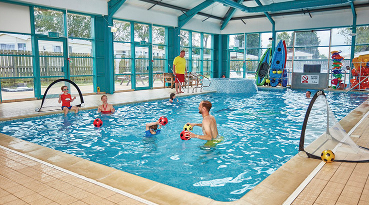 Lots of fun in the indoor pool