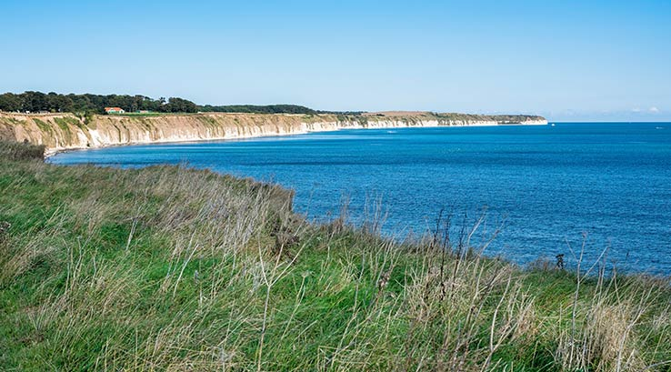 The cliffs at Bridlington Bay