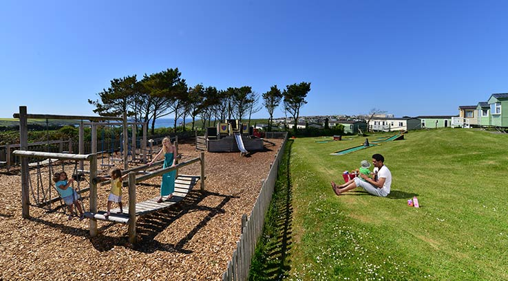 The adventure playground and crazy golf course