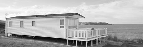 Caravan with sea views