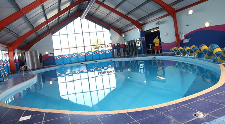 The indoor pool at Hayling Island