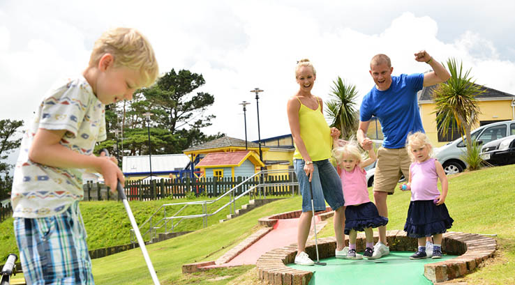Crazy golf fun at Looe Bay