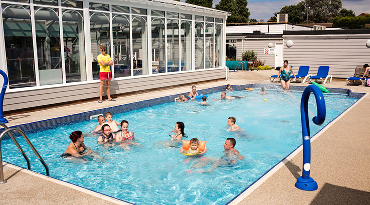 Enjoy a dip in the outdoor and indoor heated pool