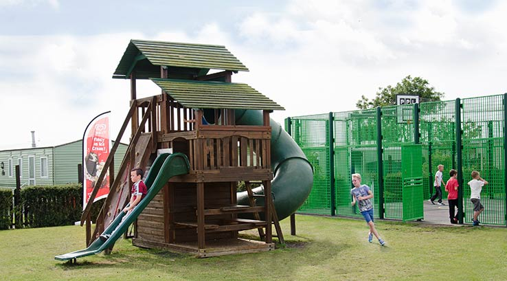 The outdoor play park at Ocean Edge