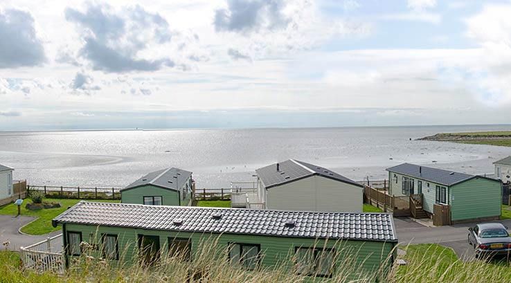 Caravans overlooking the sea at Ocean Edge