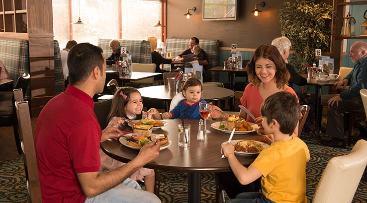 A family meal in the Coast Bar and Restaurant