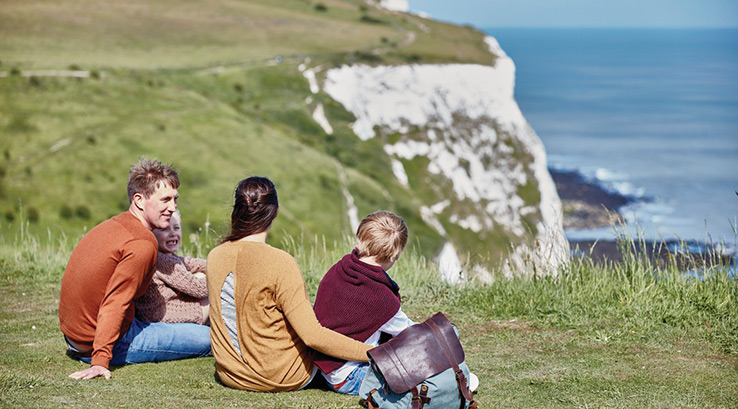 Nearby White Cliffs of Dover