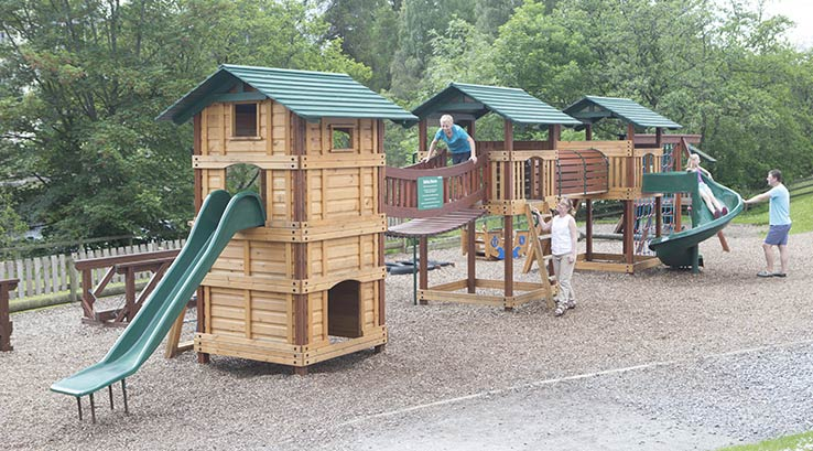 The adventure playpark at Tummel Valley