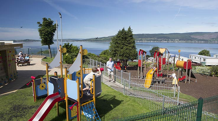 The adventure play park at Wemyss Bay