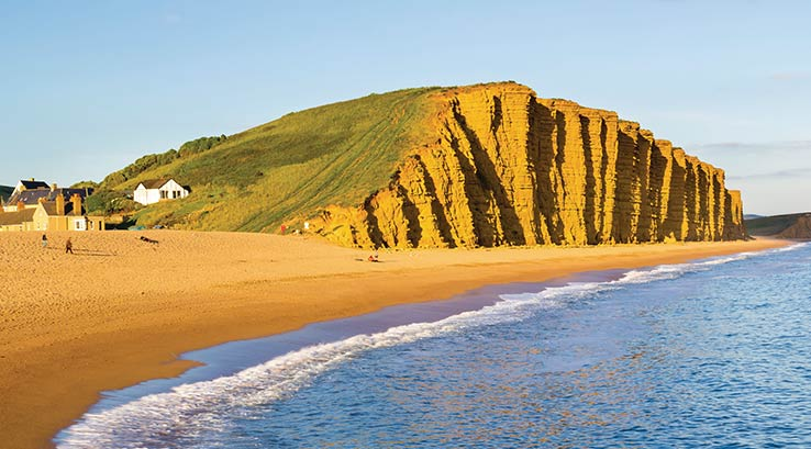 The golden cliffs at West Bay