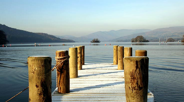 A jetty on Lake Windemere