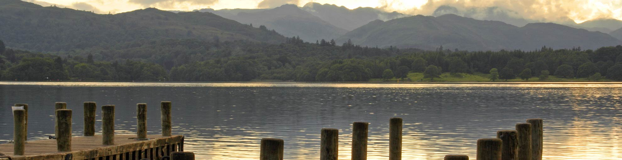 A jetty and view of Lake Windermere
