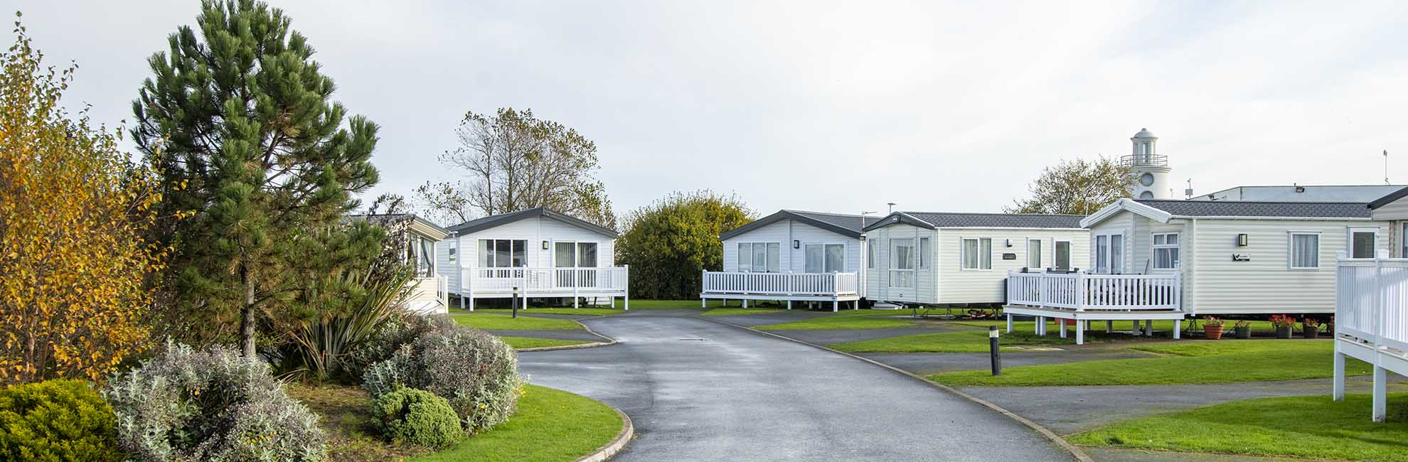 Park setting at Whitley Bay Holiday Park