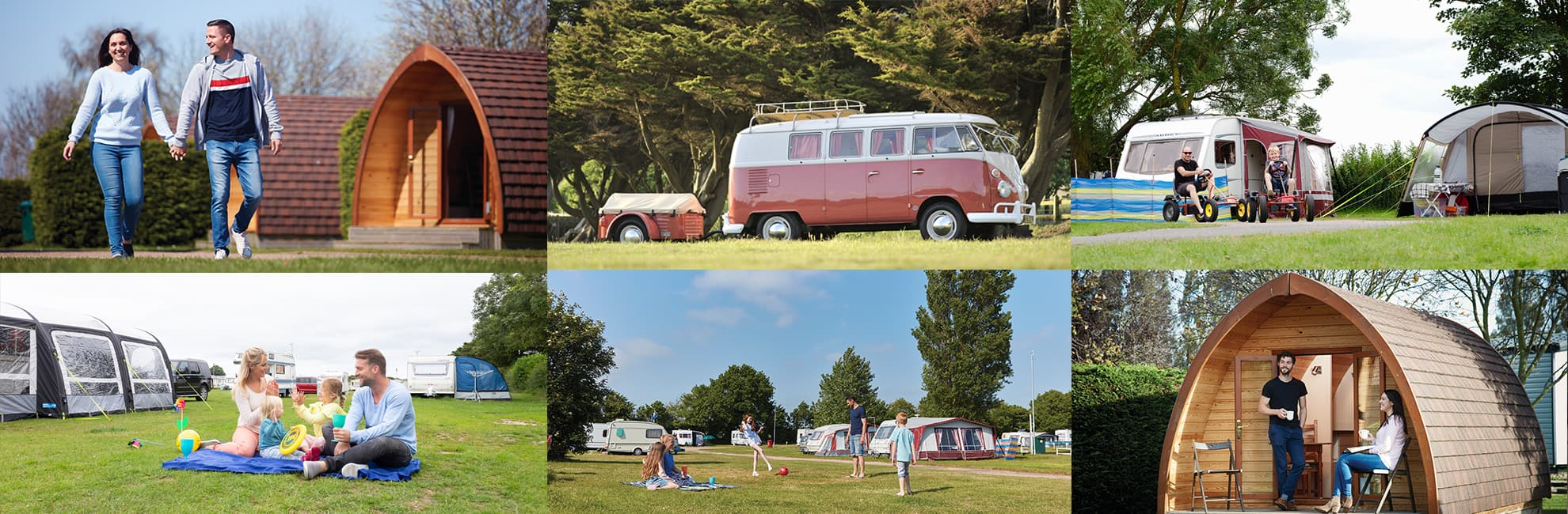 A gallery of touring and camping accommodation in East Anglia & Lincolnshire