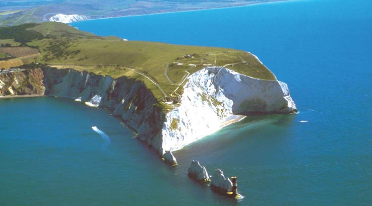 Aerial view of the needles