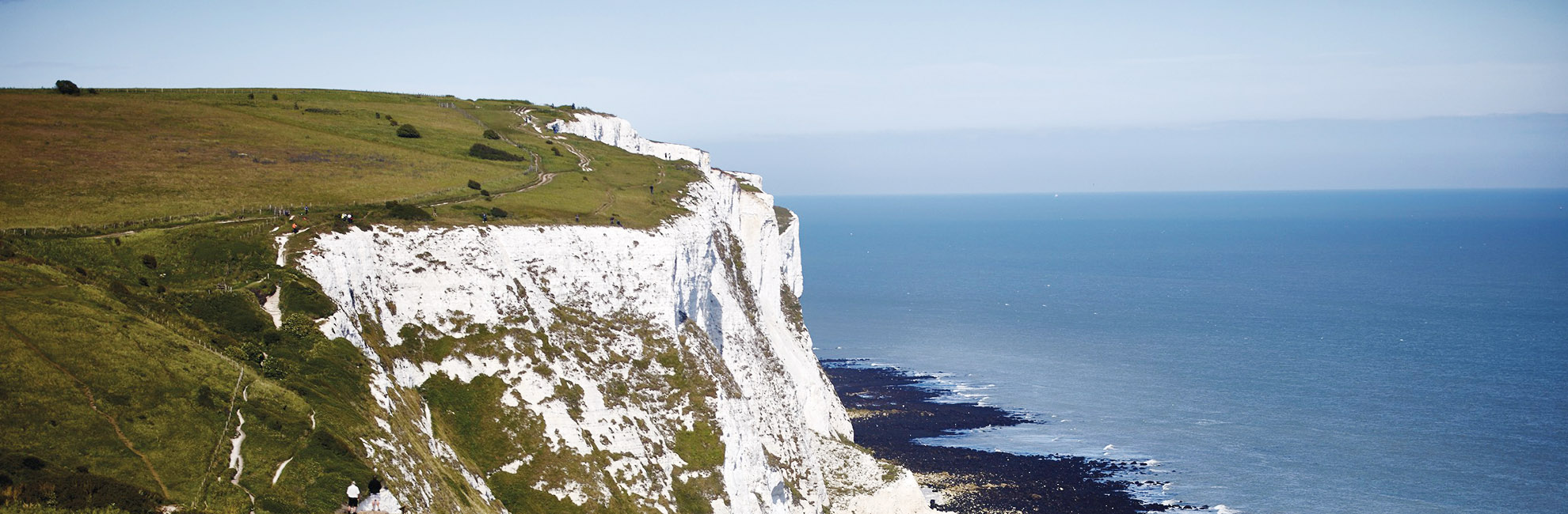 Looking over The Channel from the White Cliffs of Dover
